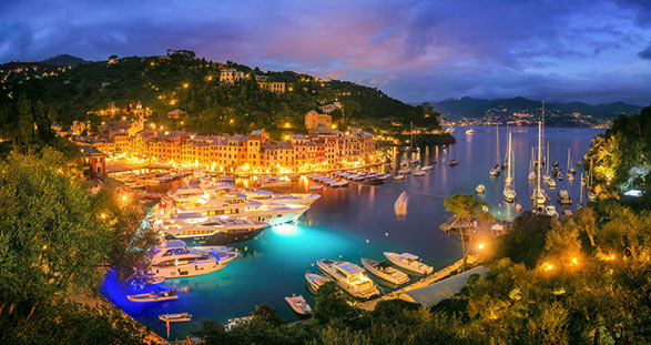 Portofino bei Nacht